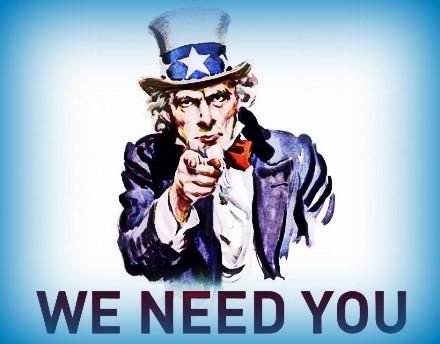 WE NEED YOU