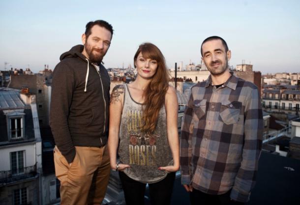 De gauche à droite : Laurent Duroche, Christelle Gras et Yohan Labrousse