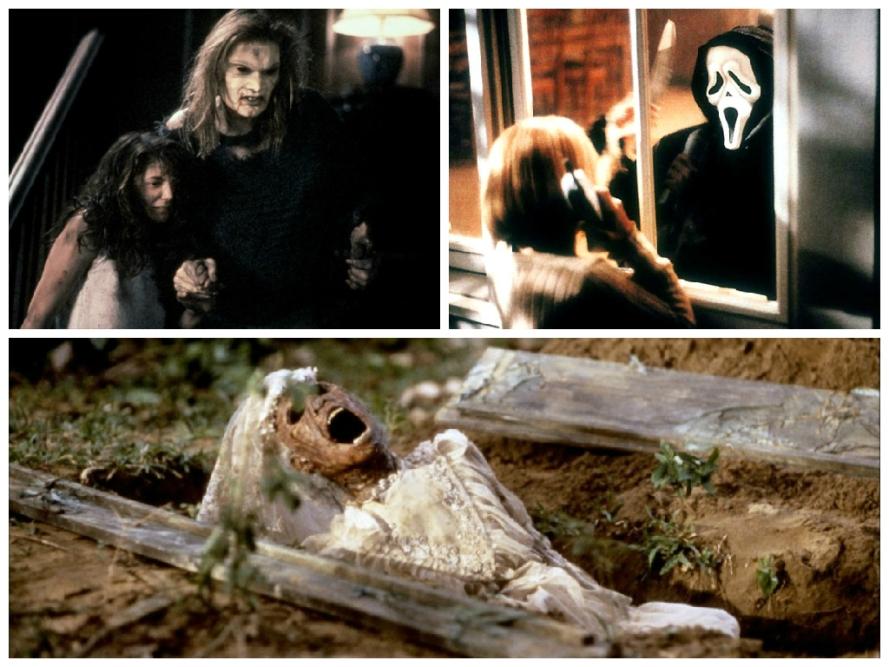 Le Sous-sol de la peur (1991), Scream (1996) et L'Emprise des ténèbres (1988).